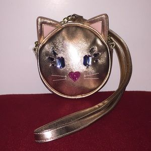 Luv Betsey by Betsy Johnson Rose Gold Kitty Purse